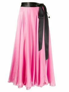 Alexandre Vauthier tie-fastening pleated skirt - PINK