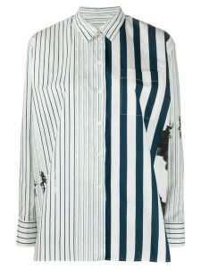 Paul Smith contrast striped oversized shirt - White