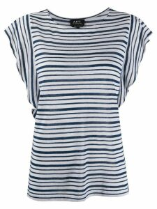 A.P.C. striped-print crew neck T-Shirt - White
