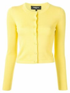 Paule Ka fitted cropped cardigan - Yellow