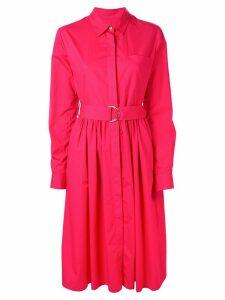 MSGM belted shirt dress - PINK