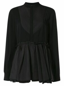 Dice Kayek ruffle long sleeve blouse - Black