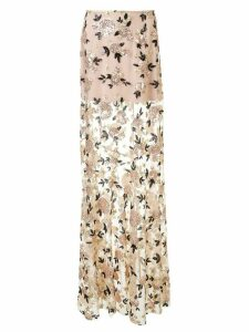 Macgraw floral sequin maxi skirt - NEUTRALS