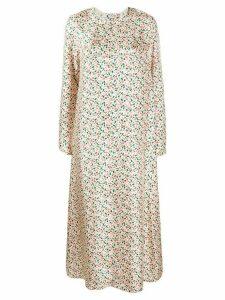 Marni floral back button dress - NEUTRALS