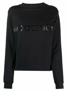 Woolrich logo crew-neck sweatshirt - Blue