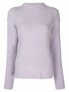 Vince mock-neck ribbed jumper - PURPLE