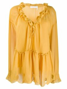 See by Chloé ruffled neck blouse - Yellow