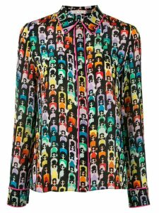 Alice+Olivia silk embroidered blouse - Multicolour