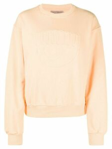 Chiara Ferragni Flirting eye sweatshirt - ORANGE