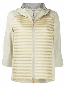 Save The Duck panelled padded jacket - NEUTRALS