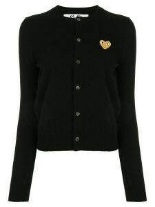 Comme Des Garçons Play embroidered logo patch cardigan - Black