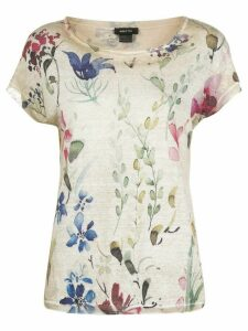 Avant Toi floral print knitted top - NEUTRALS