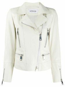 Sylvie Schimmel Metro Glove zipped biker jacket - White