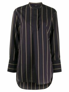 Joseph striped collar-less shirt - PURPLE