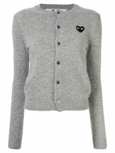 Comme Des Garçons Play logo embroidered buttoned cardigan - Grey