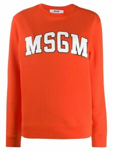 MSGM logo sweatshirt - ORANGE