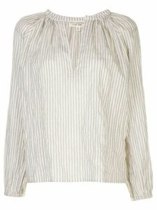 Nili Lotan Brooke striped print blouse - White