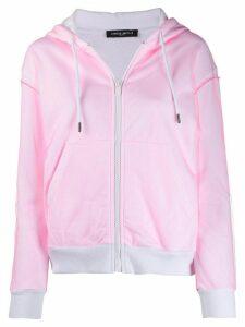 Frankie Morello long sleeve regular fit hoodie - PINK
