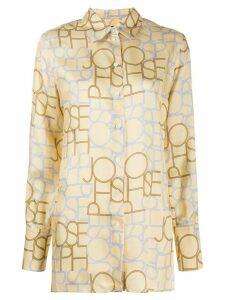 Joseph Beatrice logo-print shirt - NEUTRALS