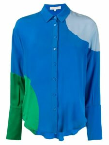 Chinti and Parker colour-block shirt - Blue
