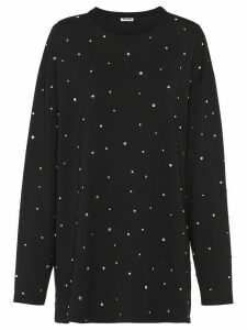 Miu Miu embellished sweatshirt - Black