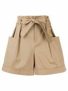 RedValentino paperbag waist shorts - Brown