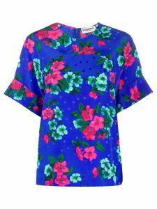 Essentiel Antwerp Barbara floral-print T-shirt - Blue