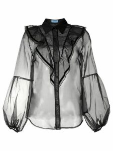 Macgraw Love Bird sheer blouse - Black