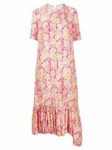 Marni peplum hem floral print dress - PINK