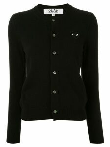 Comme Des Garçons Play logo embroidered buttoned cardigan - Black