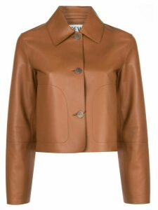 Loewe leather shirt jacket - Brown