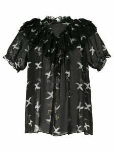 Macgraw Migration Bird Print blouse - Black