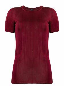 Joseph Shinny ribbed slim-fit T-shirt - Red