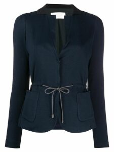 Fabiana Filippi tailored drawstring cardigan - Blue