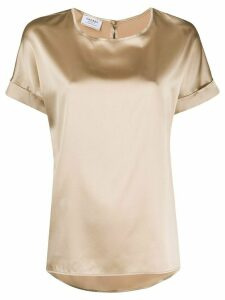 Snobby Sheep silk short sleeve top - NEUTRALS