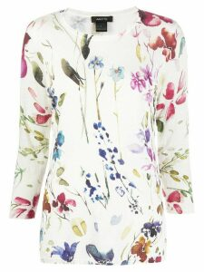 Avant Toi floral print knitted top - White