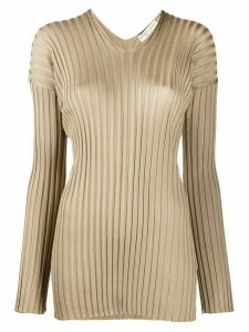 Bottega Veneta ribbed V-neck jumper - NEUTRALS