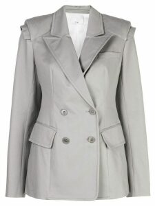 Tibi myriam twill sculpted blazer - Grey