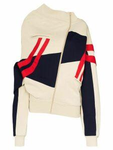 Y/Project upside-down zip-up sweatshirt - NEUTRALS