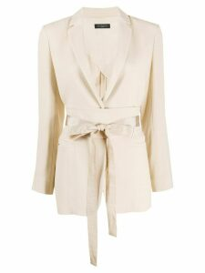 Antonelli belted tailored blazer - NEUTRALS