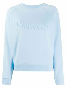 Maison Kitsuné knitted slogan jumper - Blue