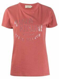 Maison Kitsuné logo T-shirt - PINK