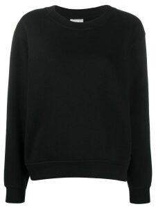 Acne Studios logo tag crewneck sweatshirt - Black
