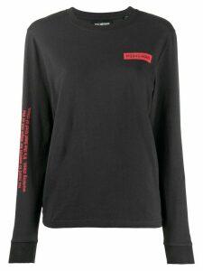 Han Kjøbenhavn logo print long sleeve top - Black