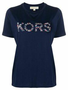 Michael Michael Kors floral logo T-shirt - Blue