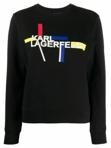 Karl Lagerfeld printed logo sweatshirt - Black
