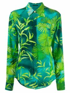 Versace jungle print shirt - Blue