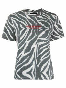 Han Kjøbenhavn zebra print T-shirt - White