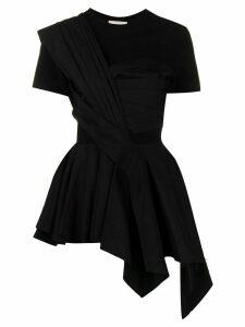 Alexander McQueen peplum short-sleeved T-shirt - Black