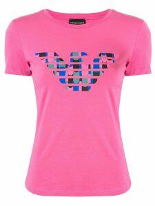 Emporio Armani logo print T-shirt - PINK